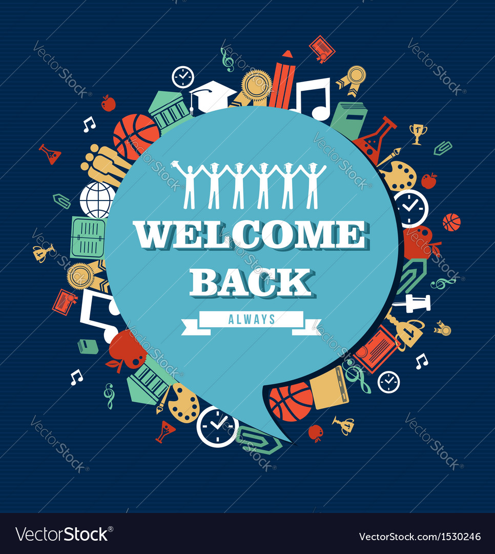 Back to school social bubble education global vector