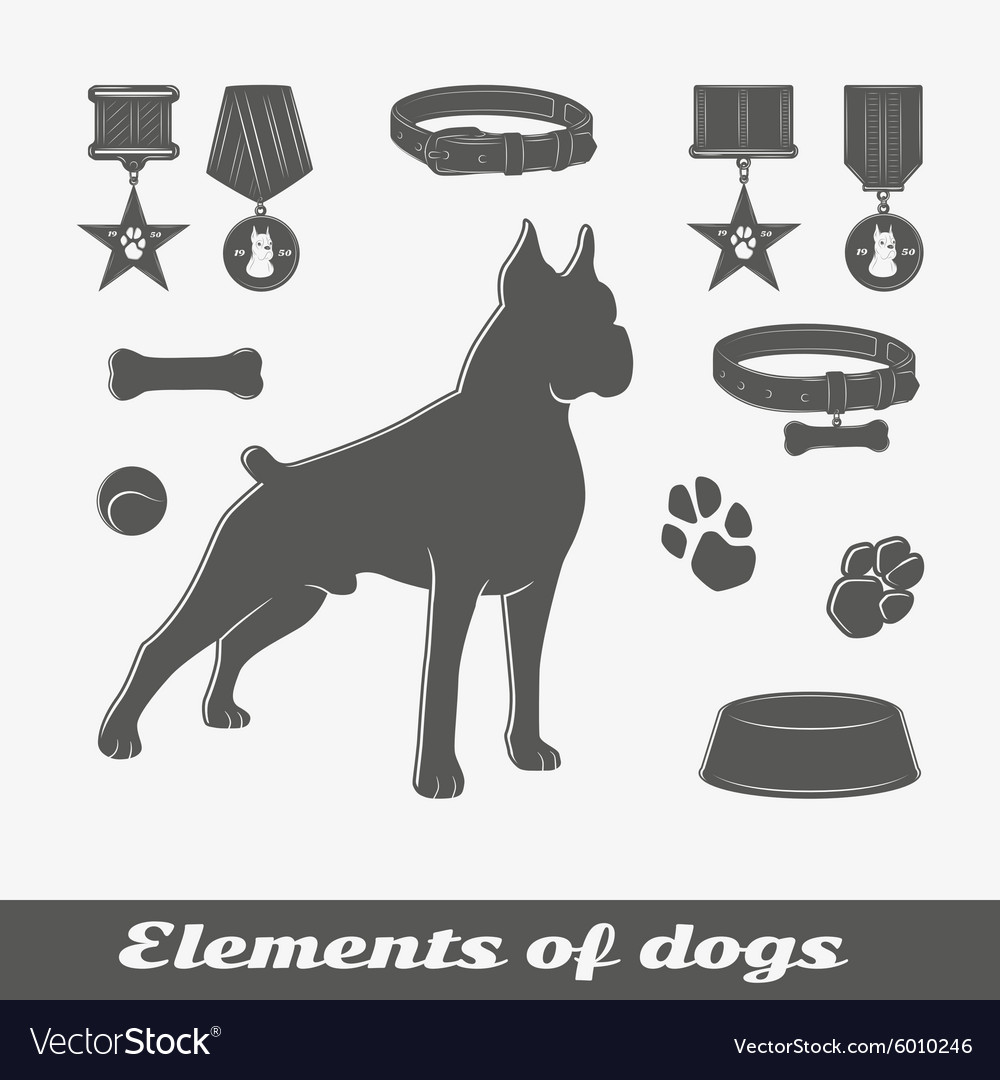 Silhouette of the dog vector