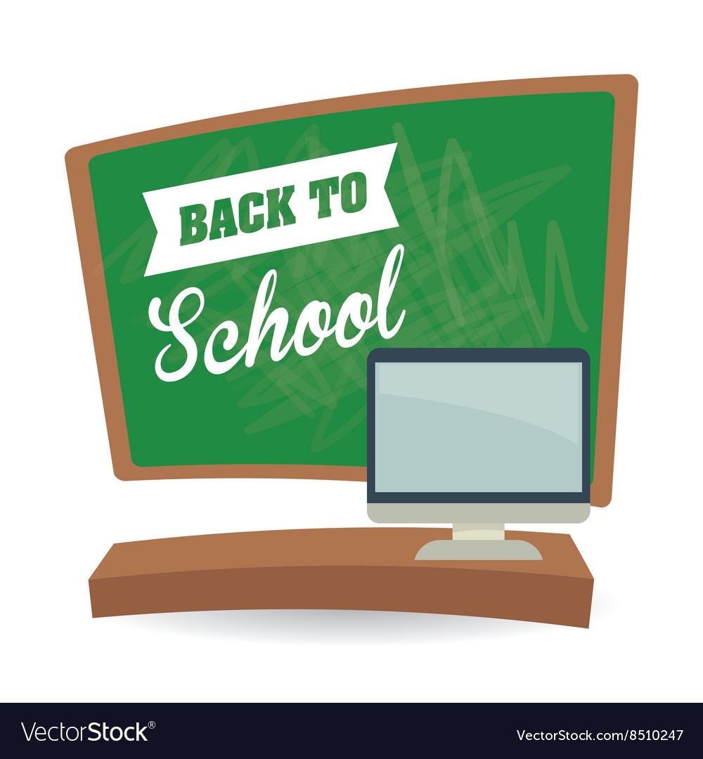 Flat of back to school design vector