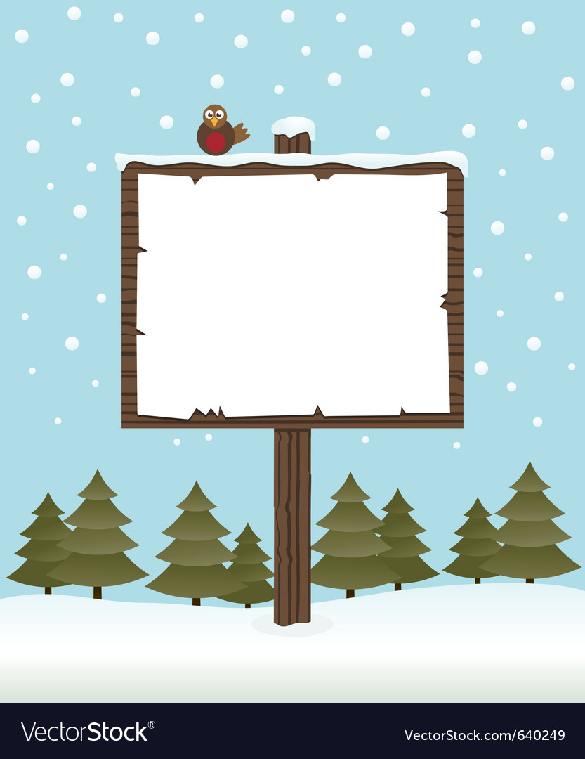 Winter sign post vector