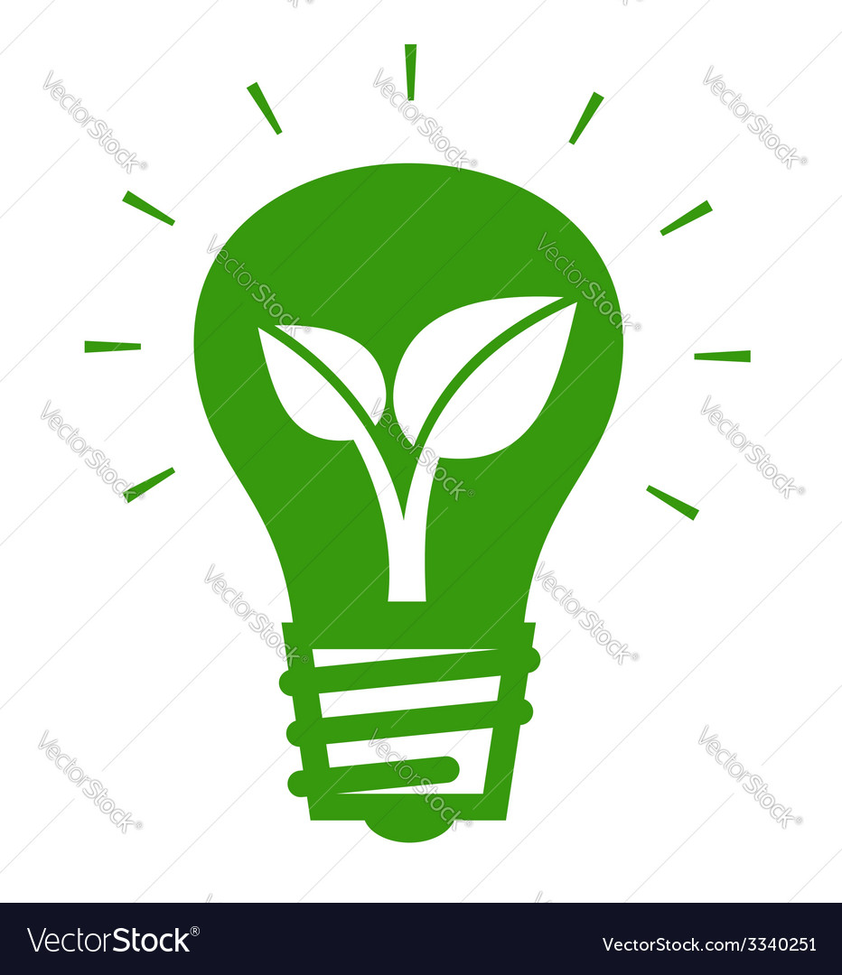 Bulb with leaf vector