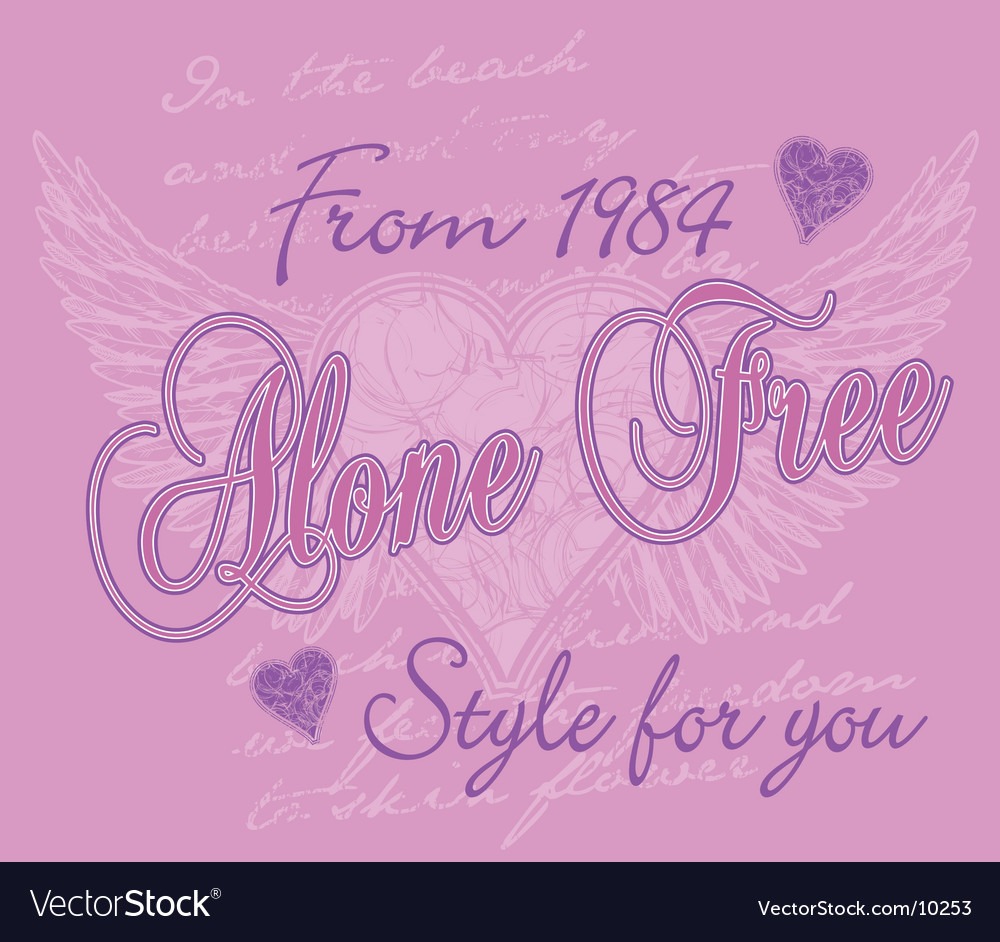 Freedom of love vector