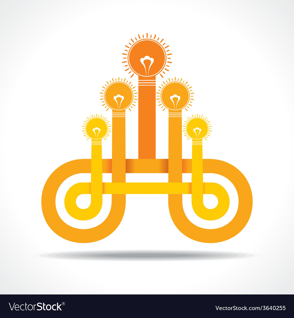 Business icon with hand lightbulb vector