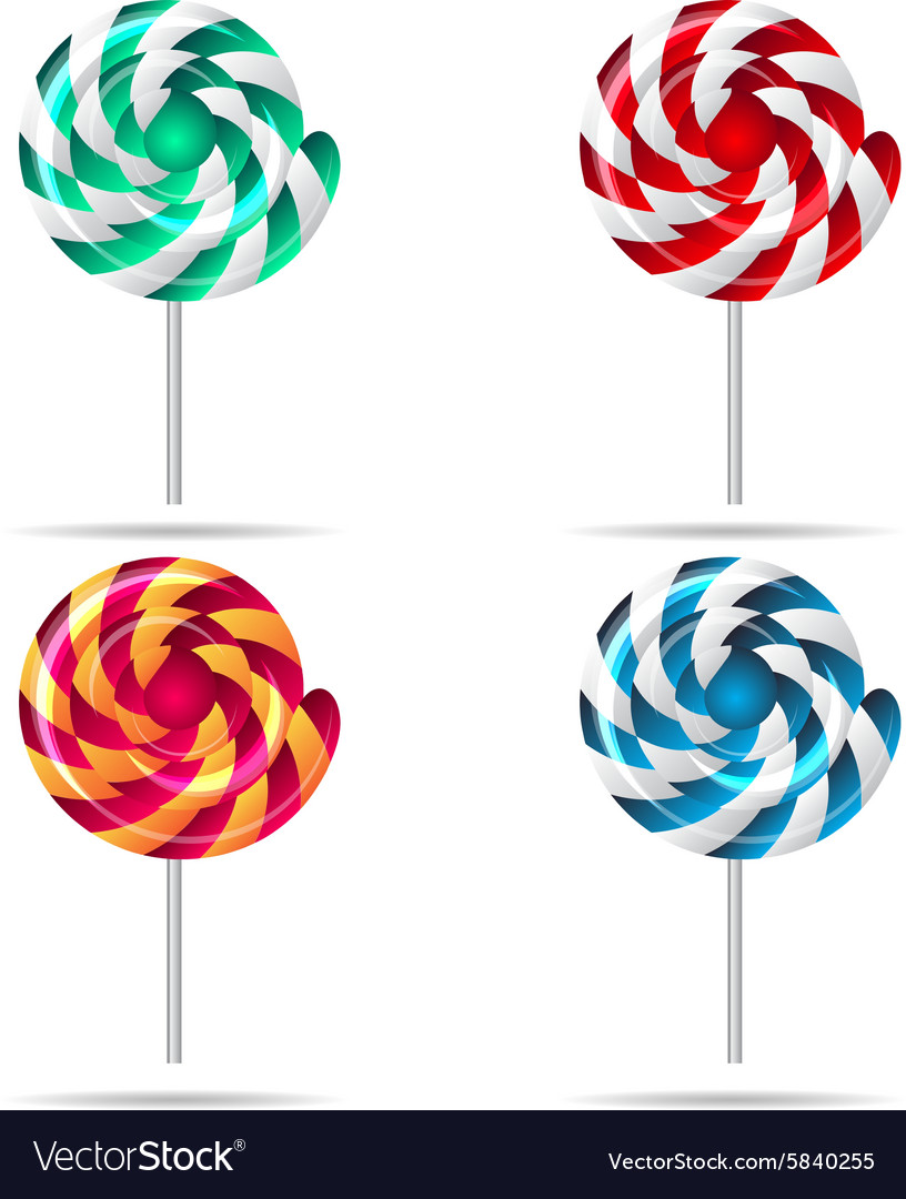 Sweets and candies icons set eps vector