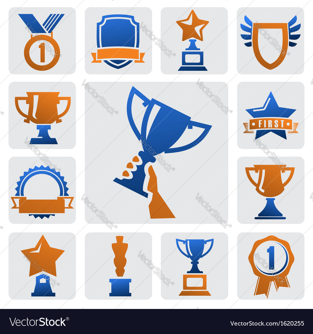 Trophy and awards vector