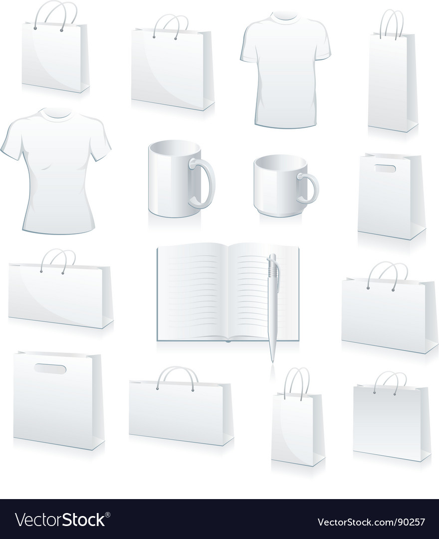 Blank products vector