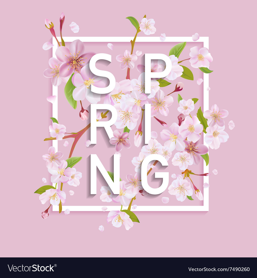 Floral spring graphic design  for tshirt fashion vector