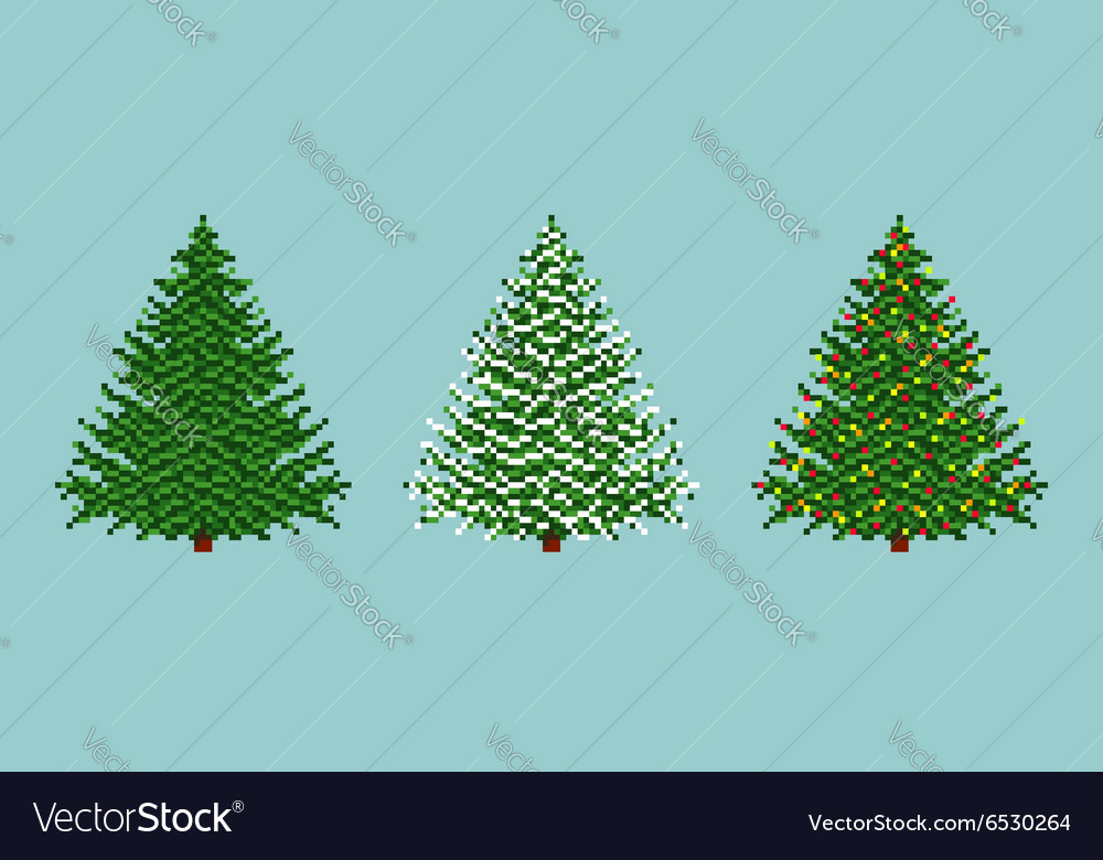 Spruces set vector