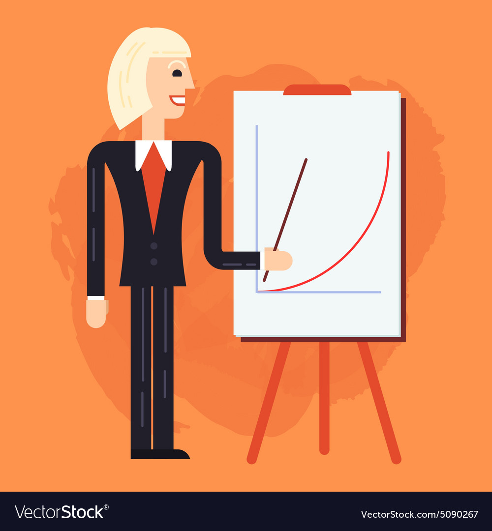 Business coach speaking vector