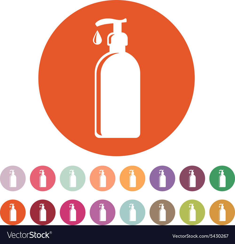 Liquid soap lotion cream shampoo icon vector