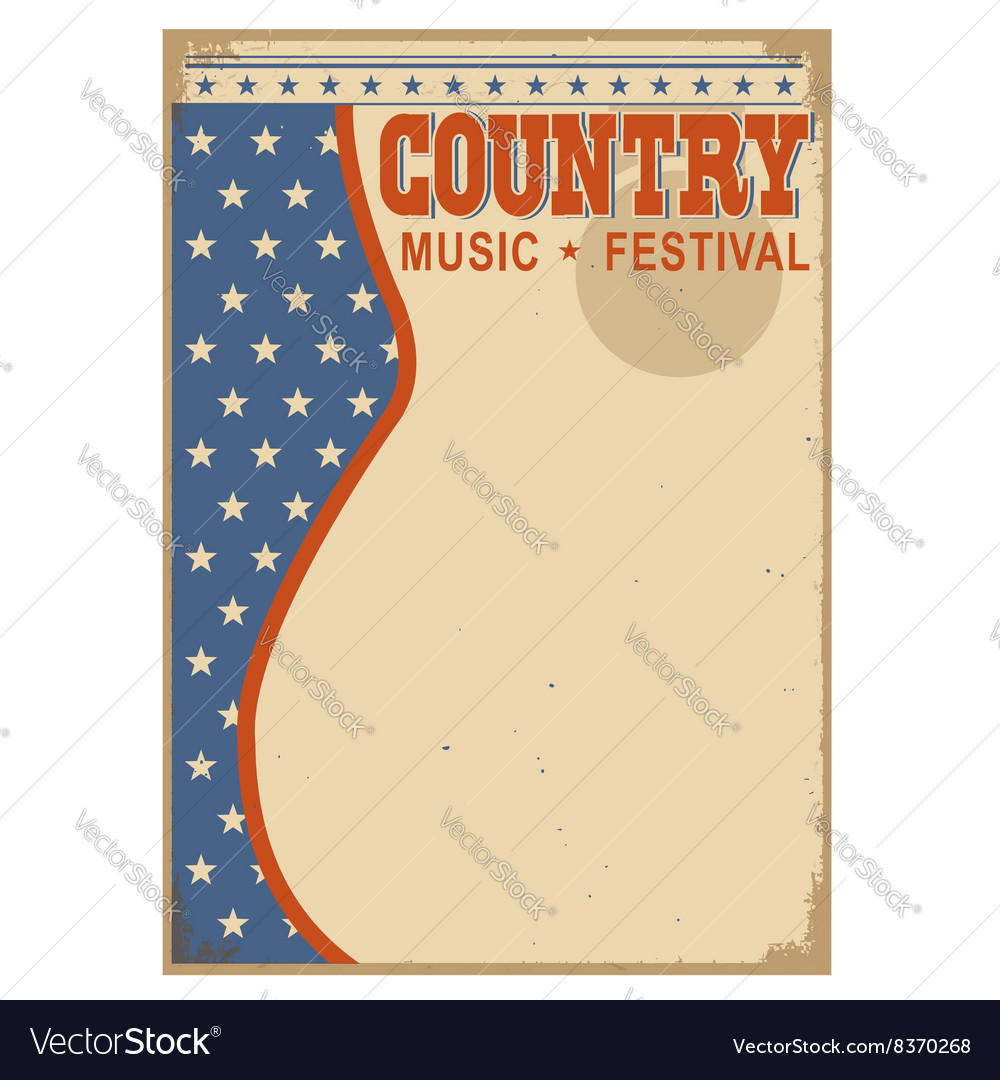 American country music background with text vector