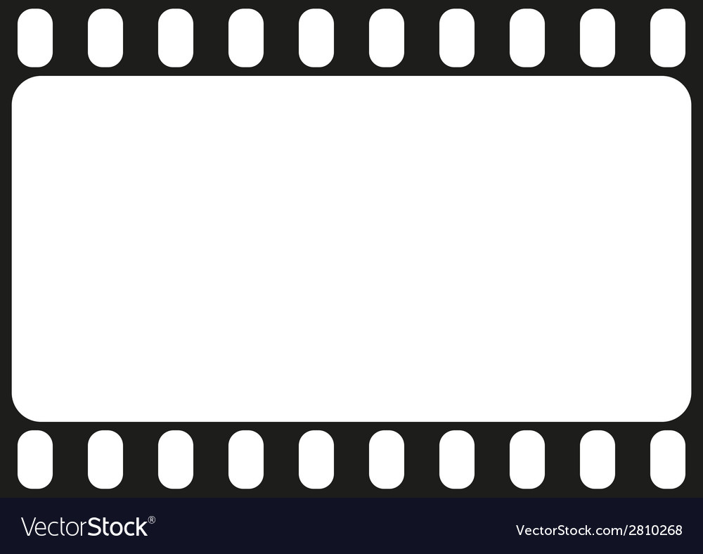 Film strip seamless pattern vector