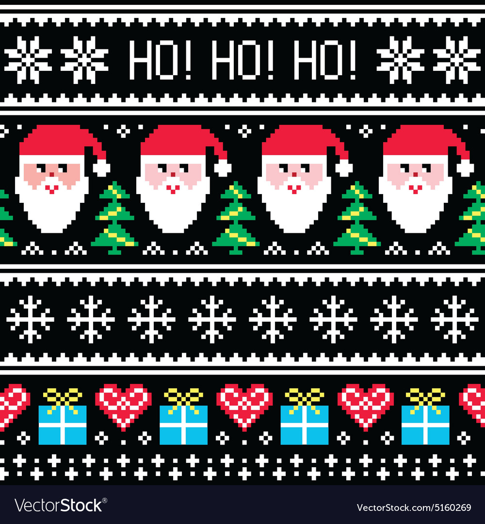 Christmas jumper or sweater seamless pattern vector