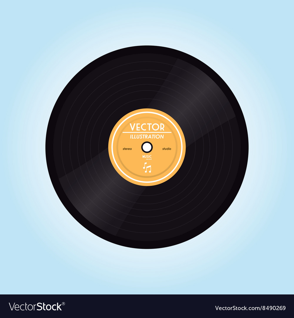 Flat about vintage technology design vector