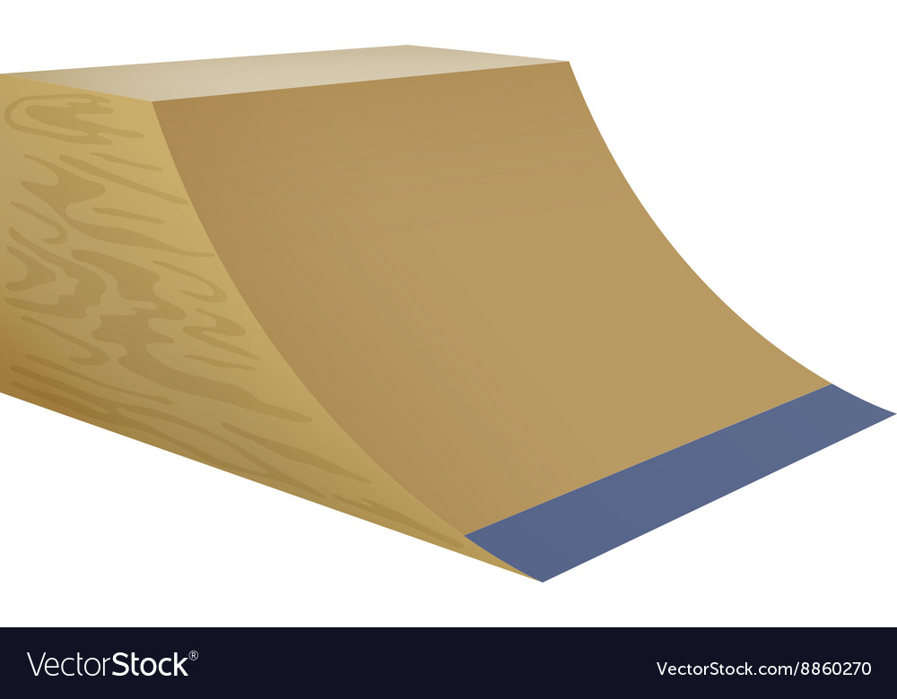 Wooden street ramp on white background vector