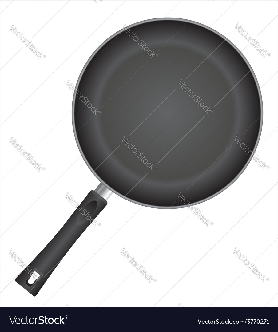 Frying pan 01 vector