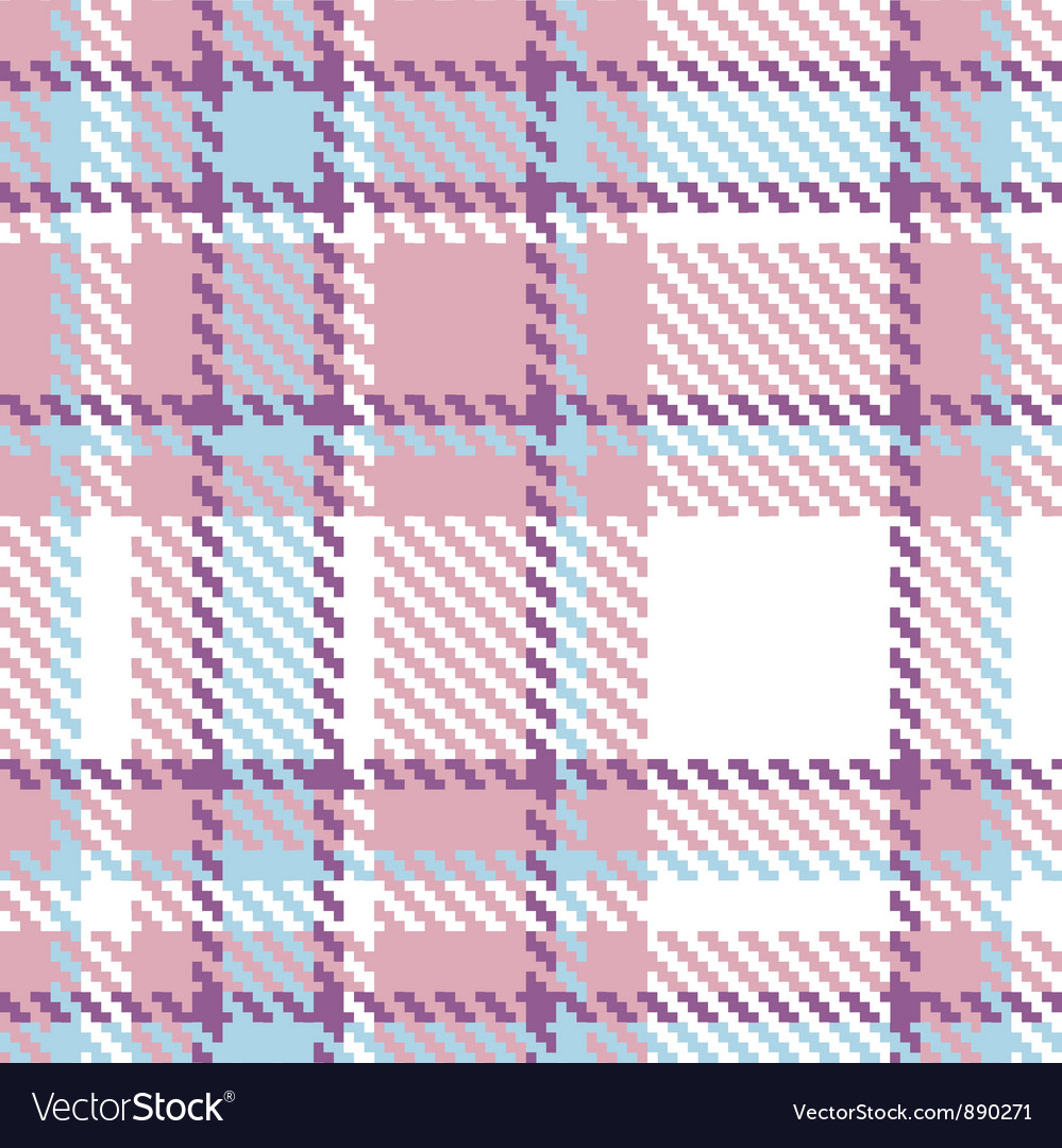 Seamless plaid fabric pattern vector