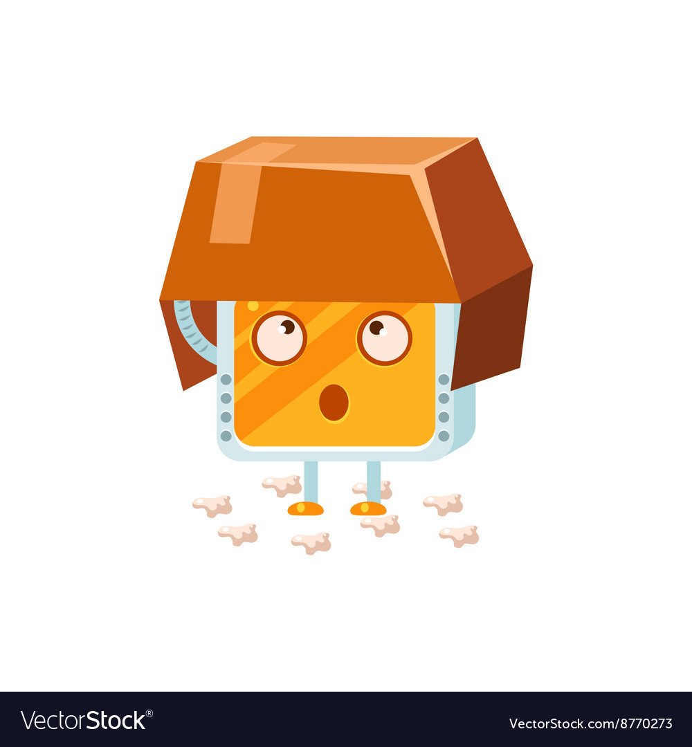 Searching little robot character vector