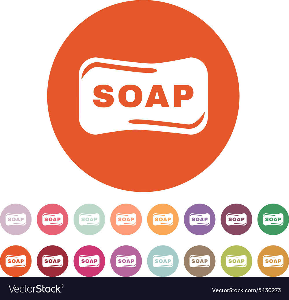 Soap icon soap symbol flat vector