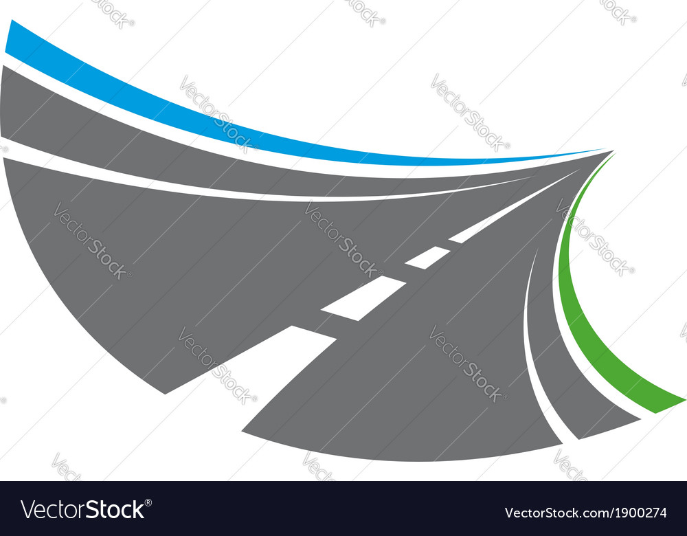 Stylized tarred road with markings vector