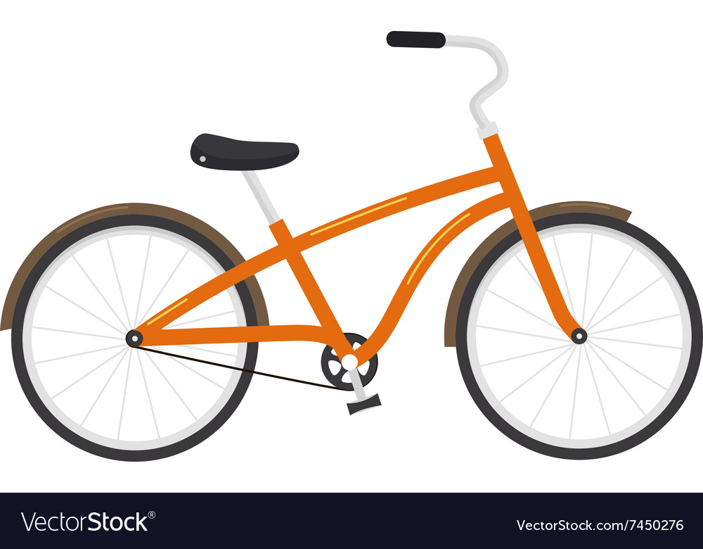 Bicycle isolated on white background vector