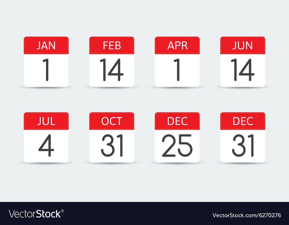 Federal holiday calendar in the usa vector
