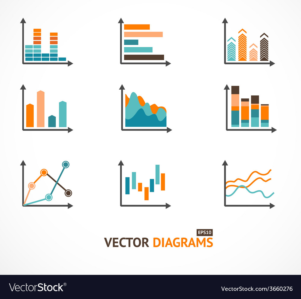 Infographic set elements graph diagrams vector