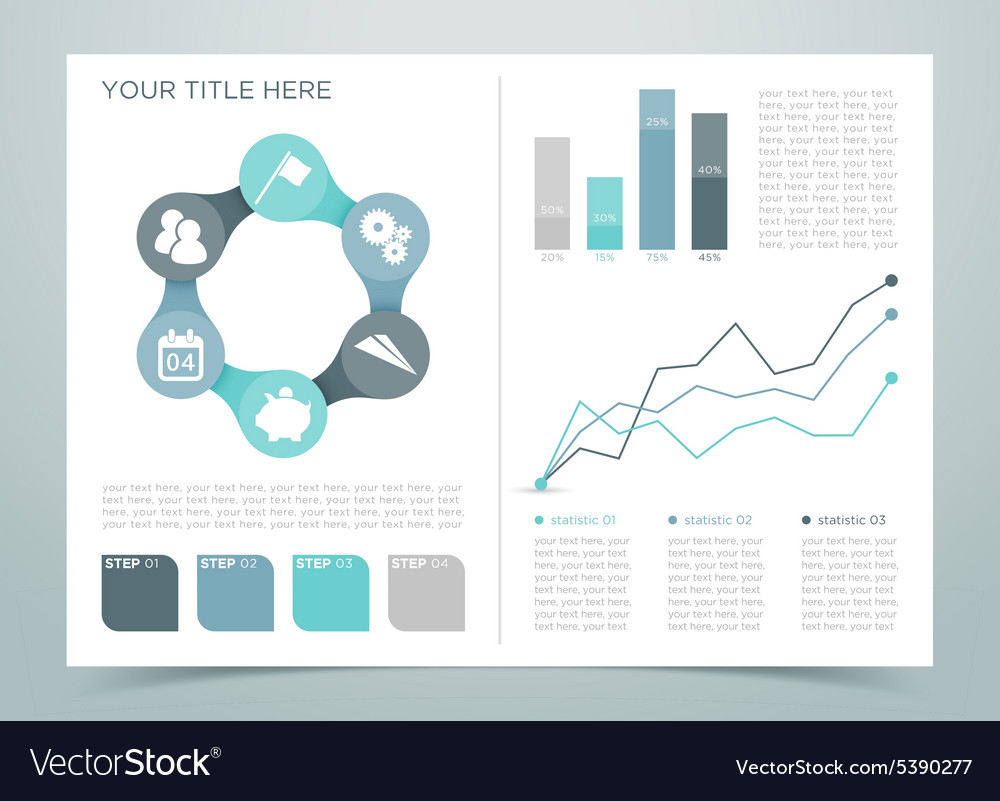 Finance infographic page 4 vector