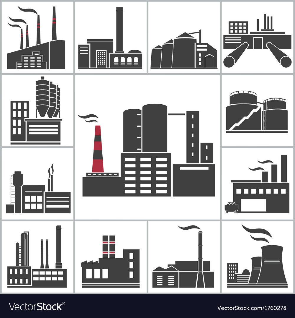 Factory and industry vector