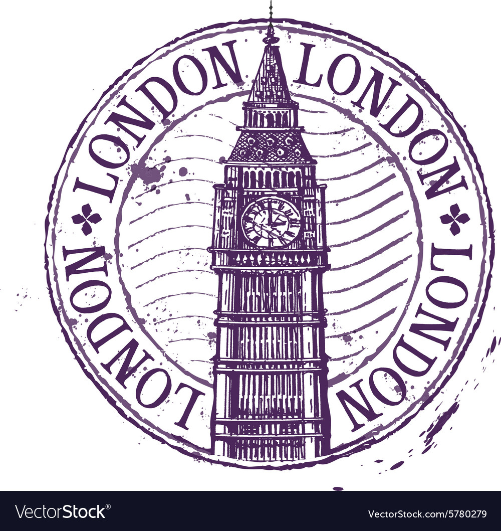 London logo design template shabby stamp vector
