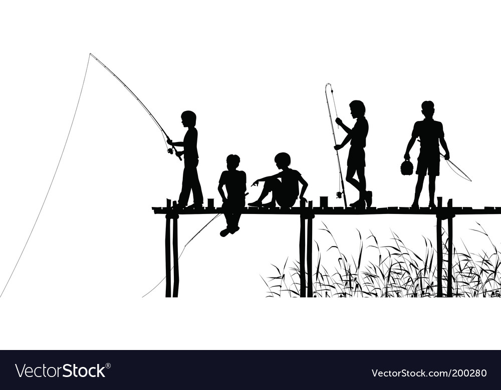 Fishing jetty vector