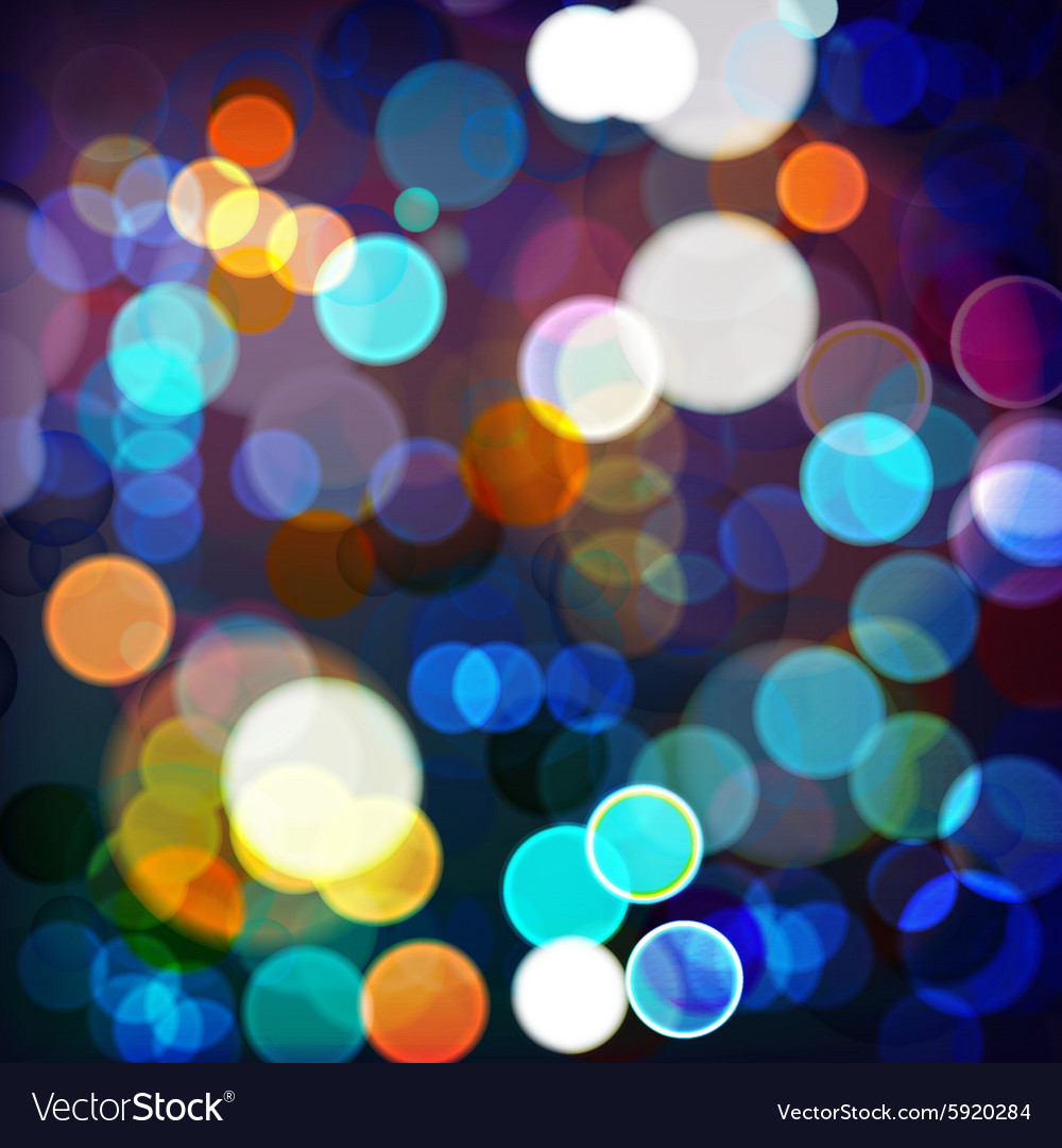 Background night lights vector