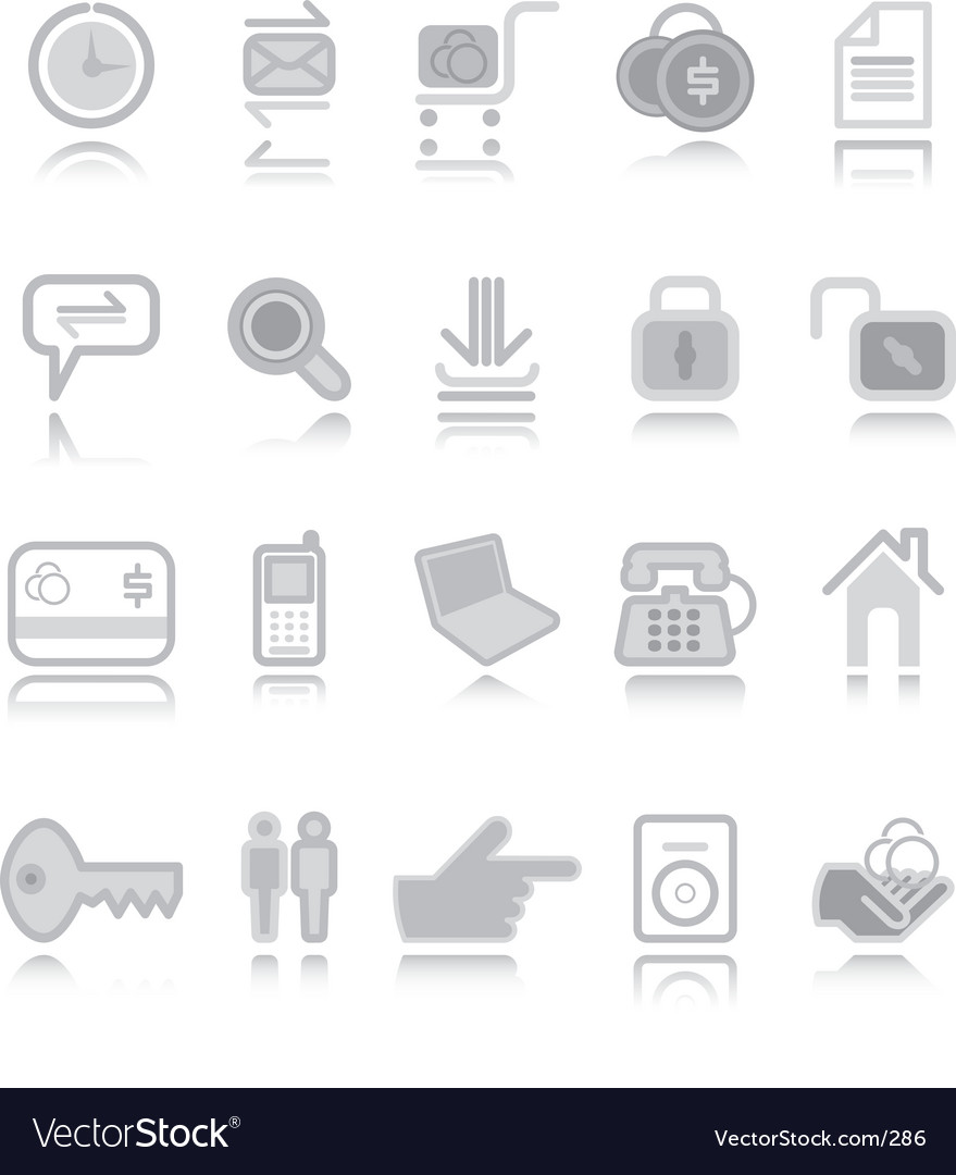 Web icons silver vector