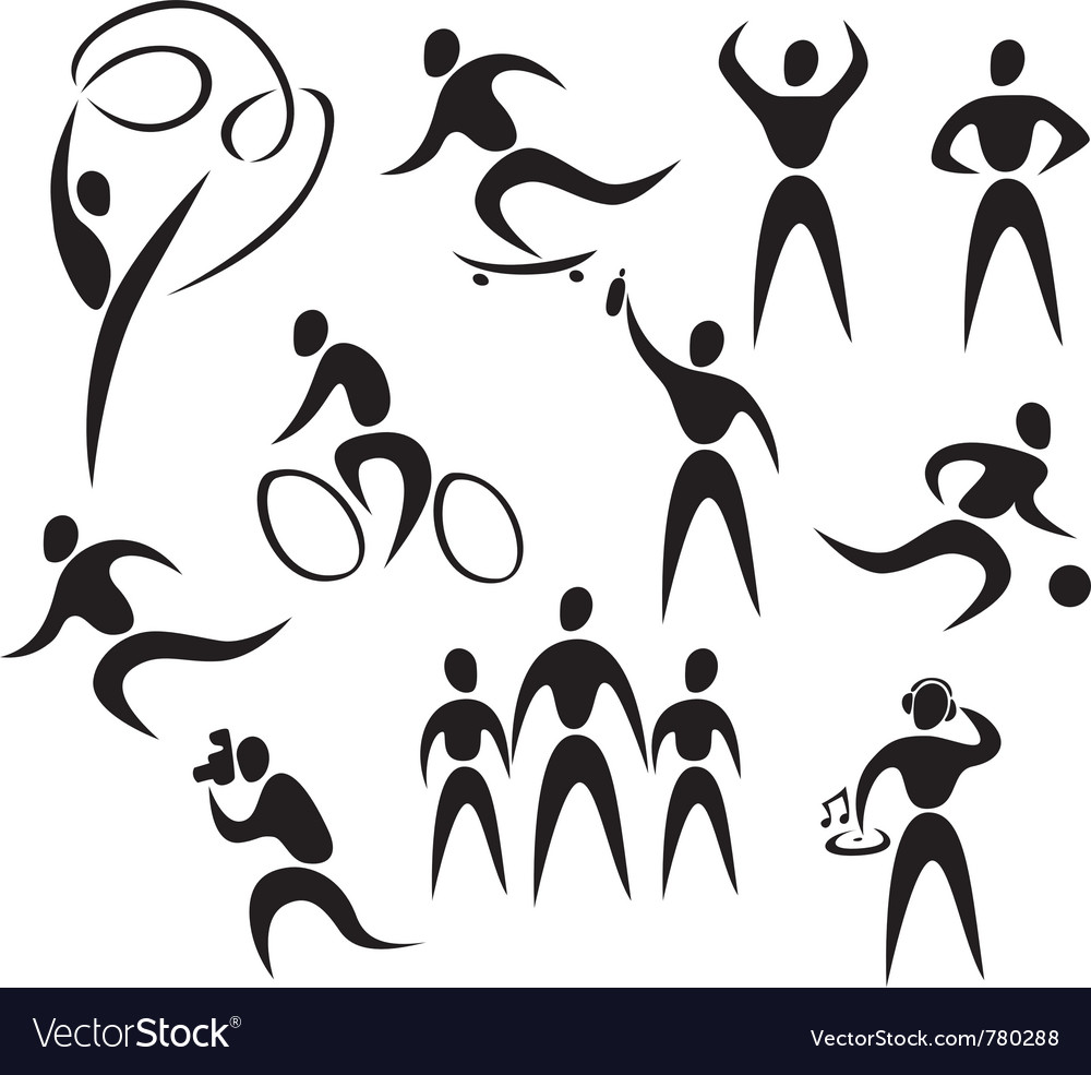 Active healthy people vector
