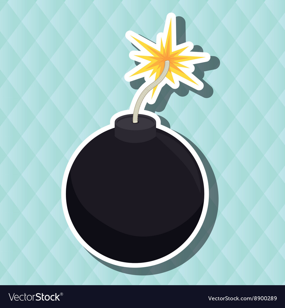 Explosive cartoon design vector