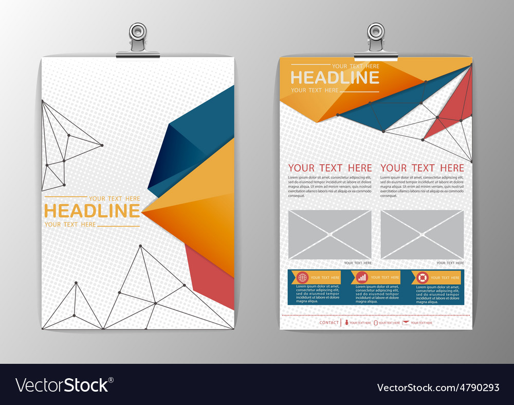 A4 abstract background triangle design business vector