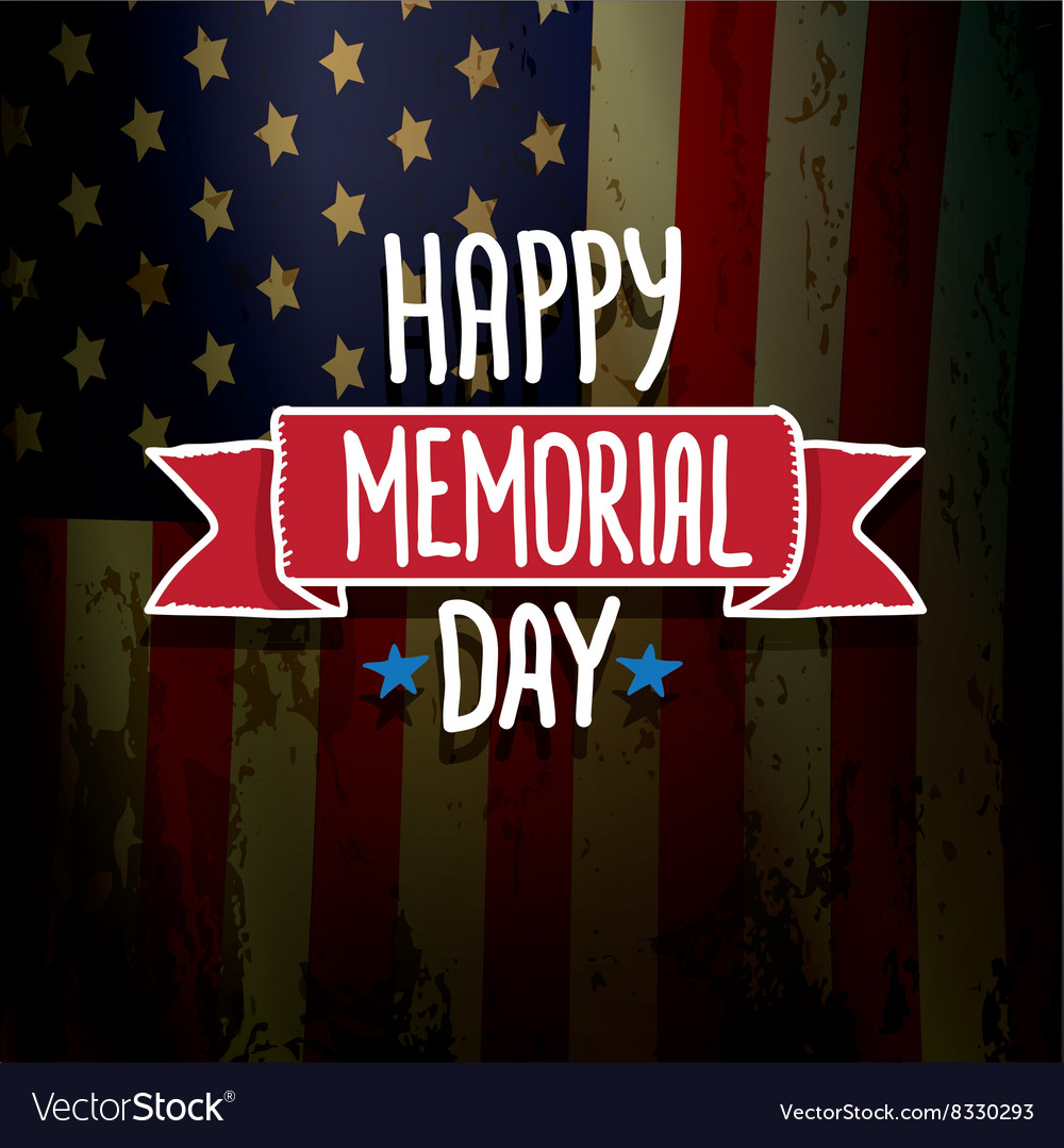 Happy memorial day vector