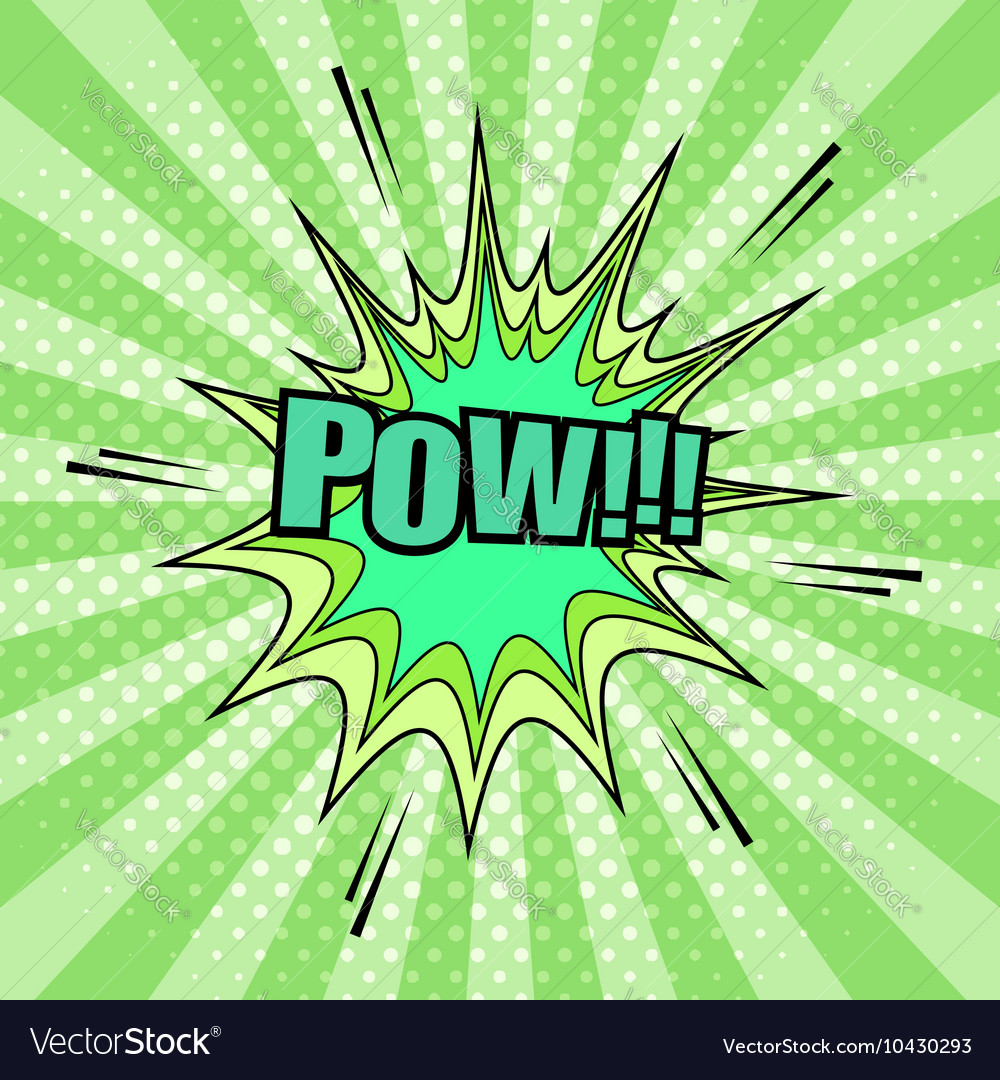 Pow comic cartoon vector