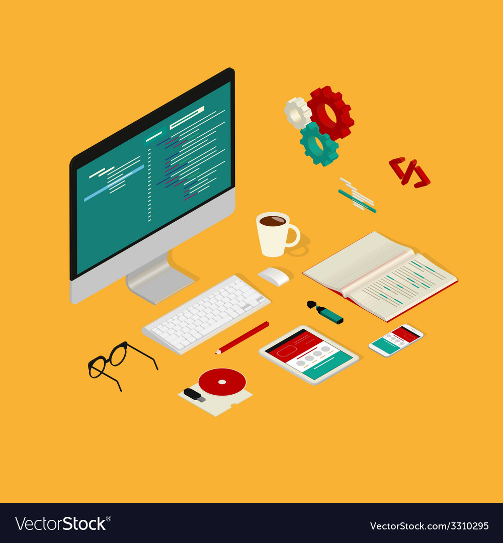 Website coding vector