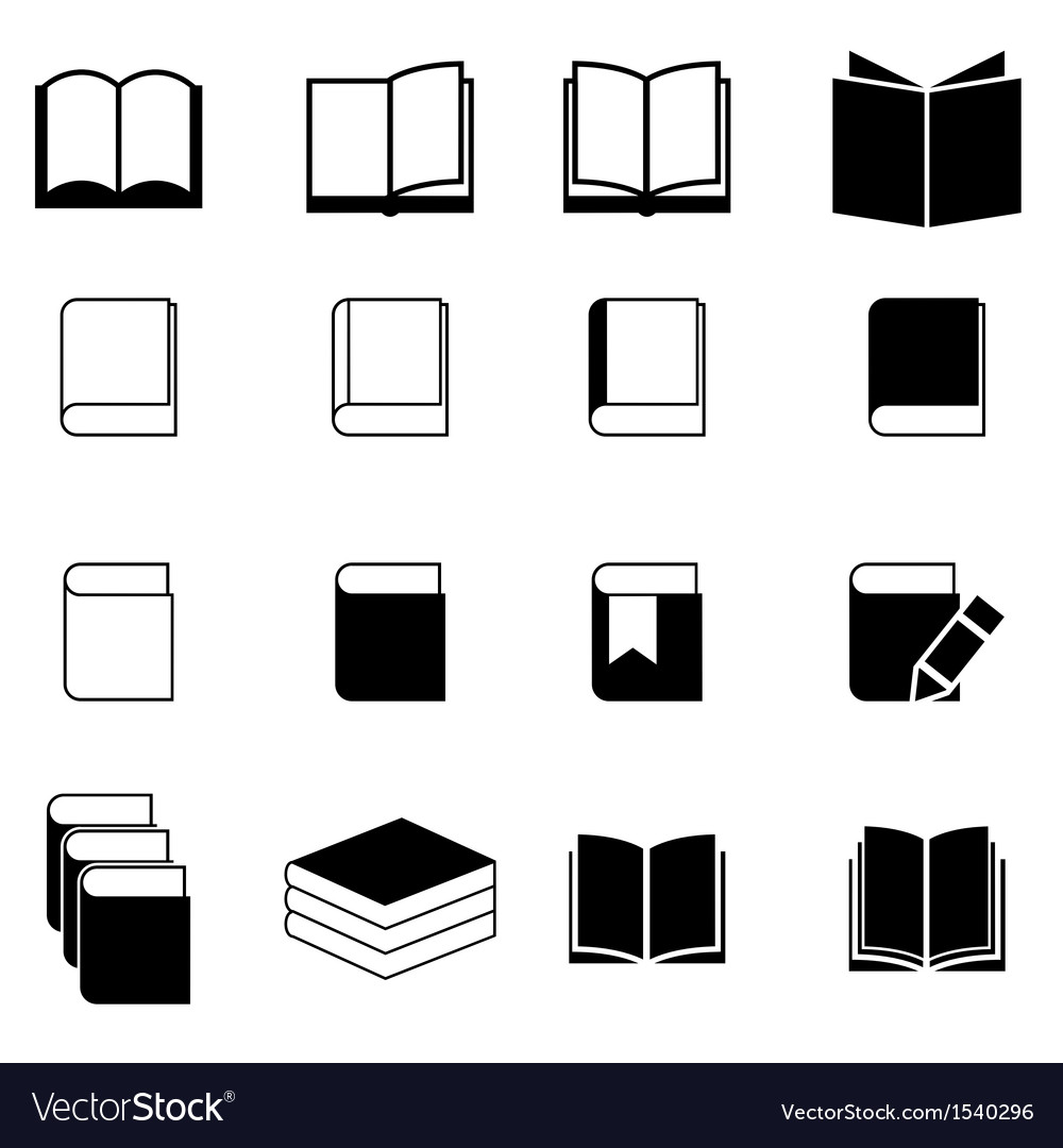 Book icon set vector