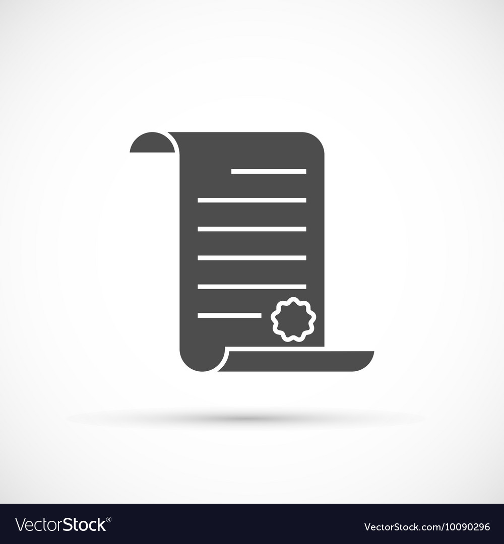 Paper scroll icon vector