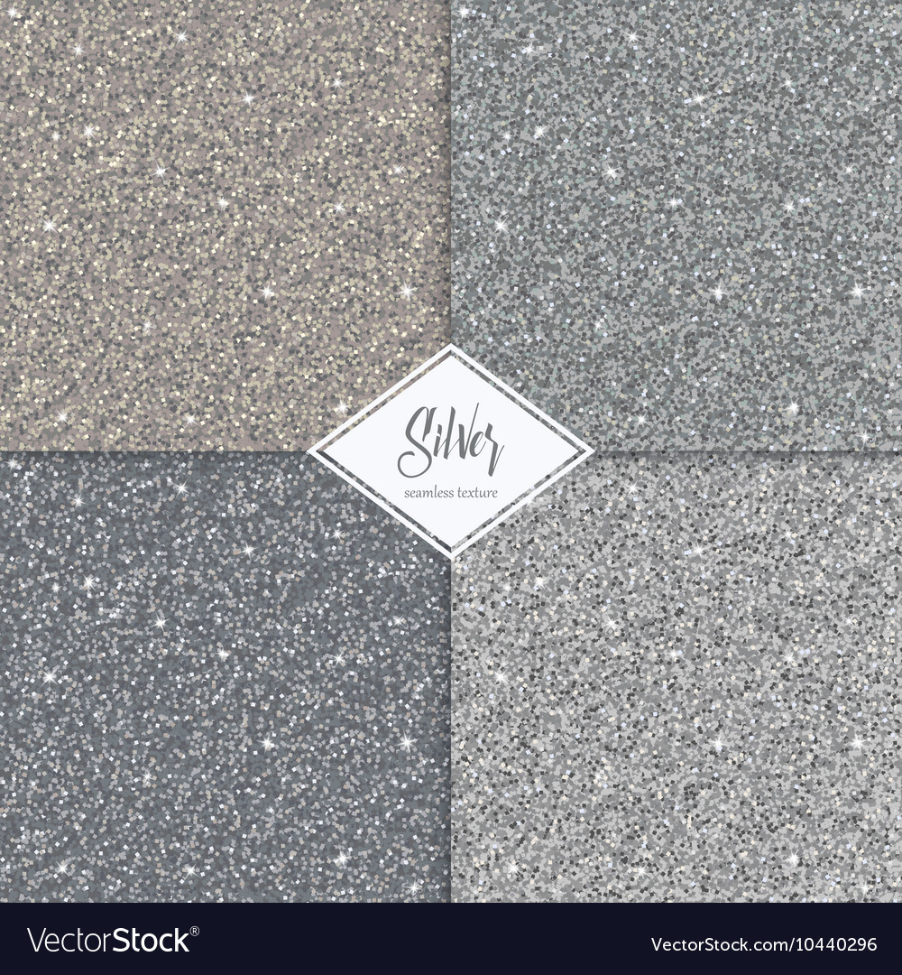 Set of glitter silver gold texture vector