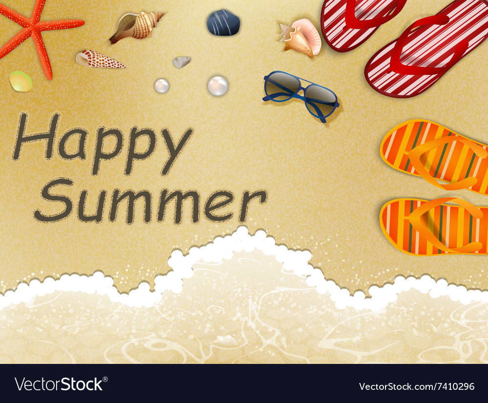 Summer holidays in the beach vector