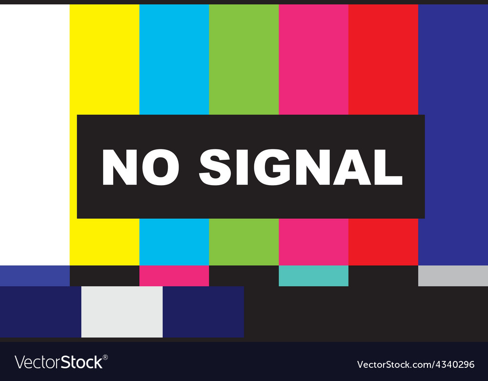 Tv no signal vector