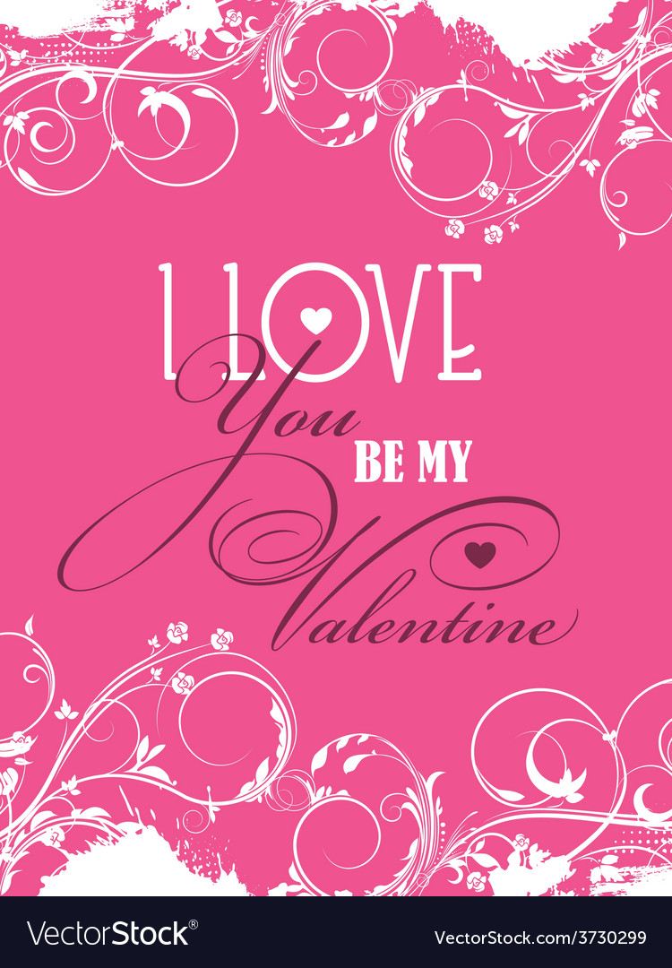 Be my valentine background vector