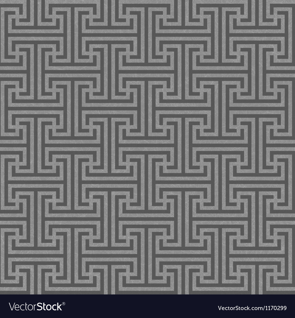 Seamless geometric key pattern vector