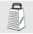 Grater with handle vector image
