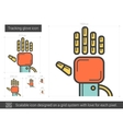 Tracking glove line icon vector image
