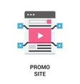 promo site icon concept vector image