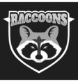 Raccoons head logo for sport club or team Animal vector image